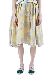 The Autonomous Collections Mid Length Patchwork Skirt Grey