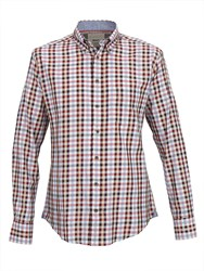 Paul Costelloe Button Down Wine Red Oxford Check Shirt