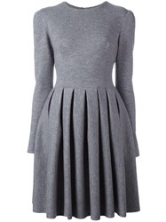 Ermanno Scervino Flared Pleated Dress Grey