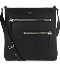 Mulberry Zip Leather Messenger Bag Black