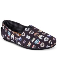 Skechers Women's Bobs Plush Pup Smarts Casual Slip On Flats From Finish Line Black