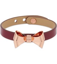 Ted Baker Leather Bow Bracelet Purple