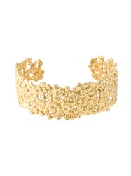 Natasha Collis 18Kt Yellow Gold Small Nugget Cuff Metallic