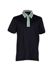 Dirk Bikkembergs Topwear Polo Shirts Men Dark Blue