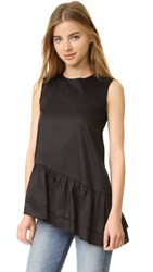 Cynthia Rowley Asymmetrical Top Black
