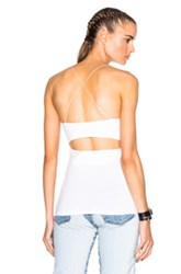 Alexander Wang T By Modal Spandex Strappy Cami Tank In White