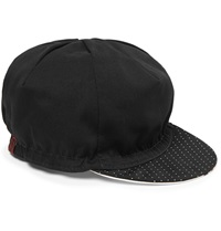 Cafe Du Cycliste Pin Dot Print Twill Cycling Cap Black