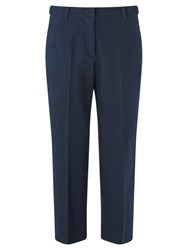 Jigsaw Cropped Straight Chino Trousers Navy
