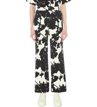 Sportmax Navile Wide High Rise Crepe Trousers White