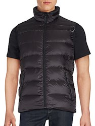 Saks Fifth Avenue Sleeveless Quilted Jacket Black