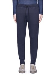 Theory 'Moris P' Geometric Cloque Sweatpants Blue