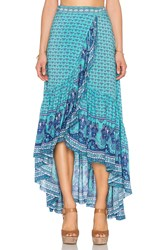 Spell And The Gypsy Collective Sunset Road Wrap Skirt Blue