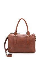 Frye Amy Zip Satchel Cognac