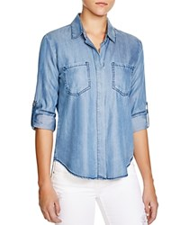 Aqua Shirt Riley Chambray Classic Indigo