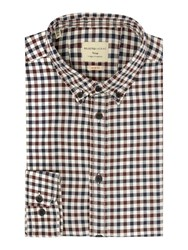Selected Gingham Oxford Shirt Wine