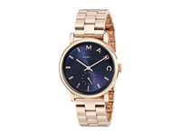 Marc By Marc Jacobs Mbm3330 Baker Rose Gold Navy Analog Watches Blue