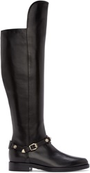 Versace Black Over The Knee Boots