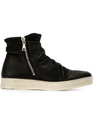 John Varvatos Side Zip Ankle Boots Black