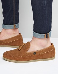 Farah Daze Suede Tassel Loafer Brown