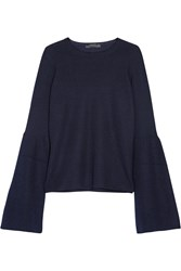 The Row Darcy Cashmere And Silk Blend Sweater Midnight Blue