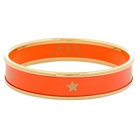 Halcyon Days 18Ct Gold Plated Enamel Star Bangle Medium Orange