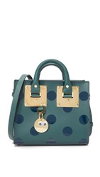 Sophie Hulme Mini Box Tote Bag Forest Green Midnight Navy