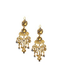 Jose And Maria Barrera Filigree Chandelier Drop Earrings Dk Gray