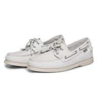 Sebago White Nubuck Dockside Boat Shoes