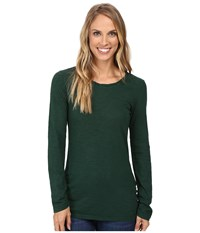 Mod O Doc Slub Jersey Long Sleeve Twisted Scoopneck Tee Cypress Women's T Shirt Green