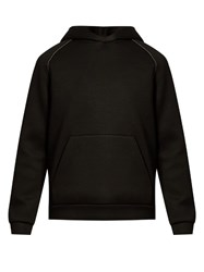 Alexander Wang Hooded Neoprene Sweatshirt Black
