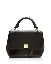 Ted Baker Large Chantel Trapeze Satchel Black