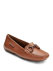Hush Puppies Cora Leather Loafers Tan