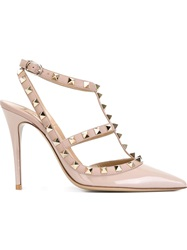 Valentino Garavani 'Rockstud' Pumps Pink And Purple