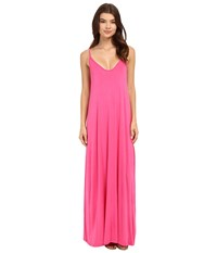 Culture Phit Ellie Spaghetti Strap Maxi Dress Hot Pink Women's Dress