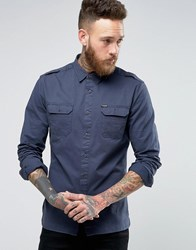 Firetrap Military Shirt Navy