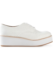 Jeffrey Campbell 'Garan' Platform Shoes White