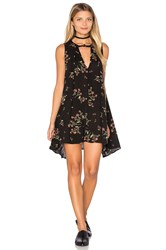 Free People Snap Out Of It Swing Dress Black