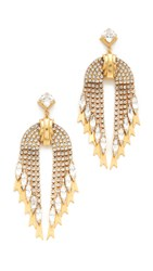 Elizabeth Cole Pixie Earrings Golden Crystal