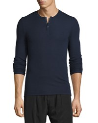 Atm Anthony Thomas Melillo Ribbed Modal Henley T Shirt Black