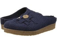 Haflinger Woven Captains Blue Women's Slippers