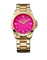 Juicy Couture Ladies Goldtone And Crystal Stella Watch