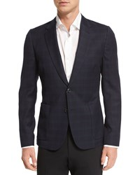 Paul Smith Plaid Two Button Flannel Jacket Black