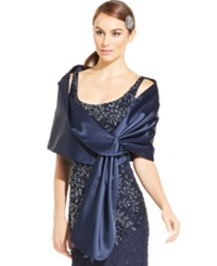 Adrianna Papell Satin Shawl Midnight