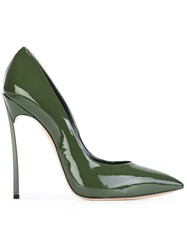 Casadei Stiletto Heel Pumps Green