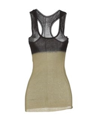Jean Colonna Sleeveless Sweaters Military Green