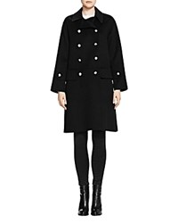 The Kooples Double Breasted Wool Coat Black