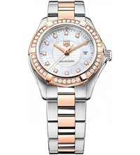 Tag Heuer Wap1452.Bd0837 Aquaracer Diamond 18Ct Rose Gold And Stainless Steel Watch