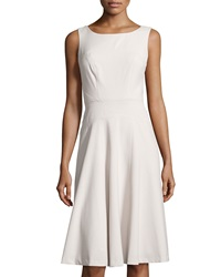 Marc New York By Andrew Marc Seamed Sleeveless Fit And Flare Dress Pearl