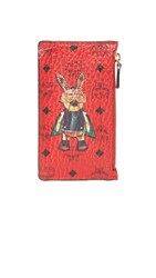 Mcm Rabbit Coin Purse Ruby Red