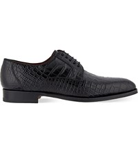 Magnanni Alligator Derby Shoes Black